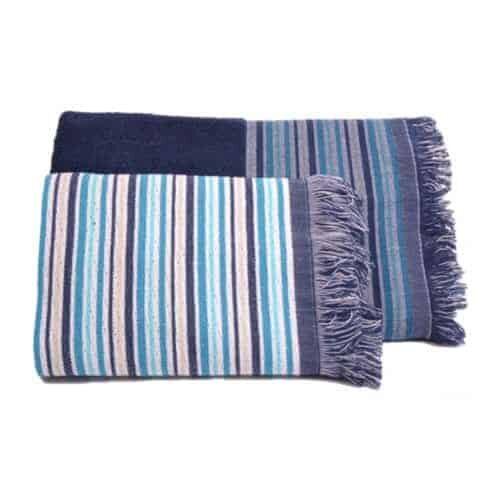 Strib med frynser håndklæde fra Engholm