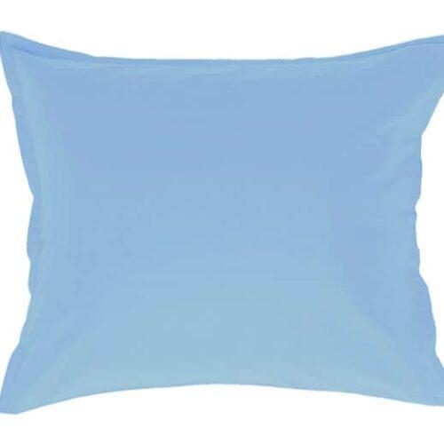 Satin pudebetræk i lys blå