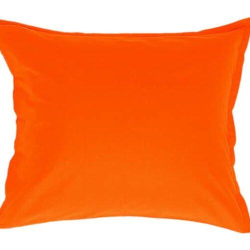 Satin pudebetræk i orange