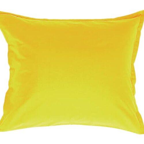 Satin pudebetræk i gul