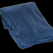 Fleece plaid i farven blå