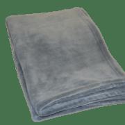Fleece plaid i grå