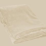 Fleece plaid i farven sand