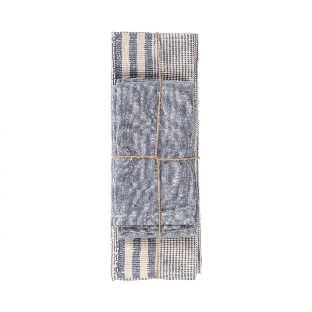 Dækkeservietter sæt - Susy - Indigo Blue - 8 stk. pr. kolli