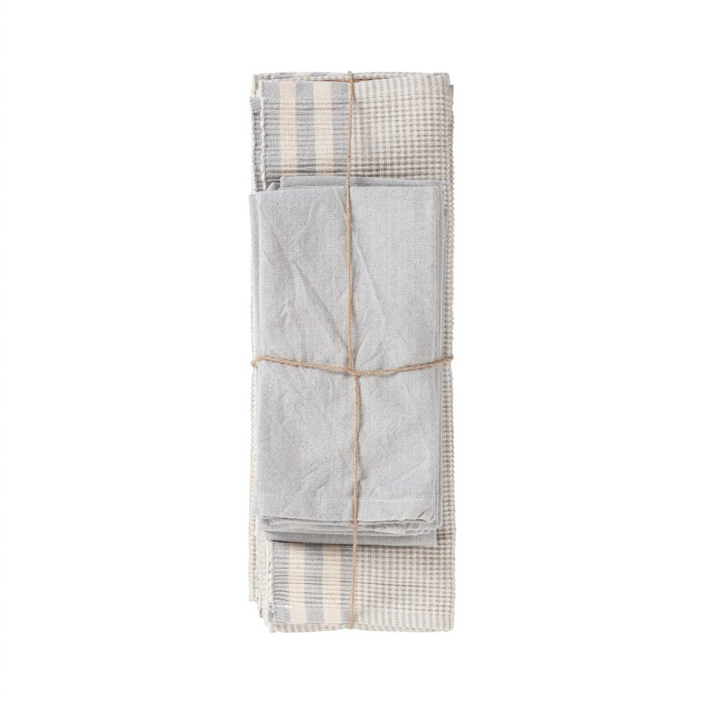 Dækkeservietter sæt - Susy - Silver Grey - 8 stk. pr. kolli