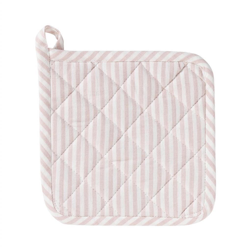 Grydelap - Medium Fine Stripe - Soft Pink
