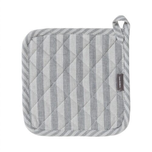 Grydelap - Medium Fine Stripe - Dark Grey