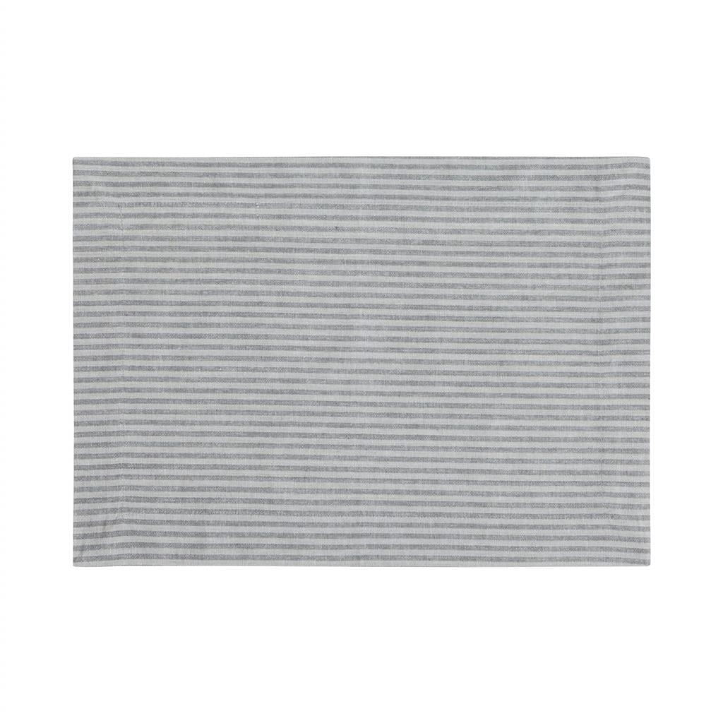 Dækkeserviet - Medium Fine Stripe - Dark Grey