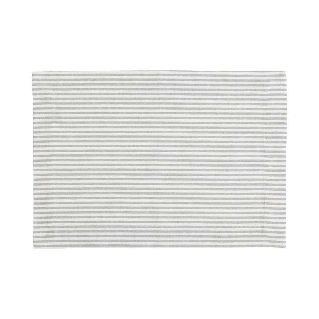 Dækkeserviet - Medium Fine Stripe - Silver Grey