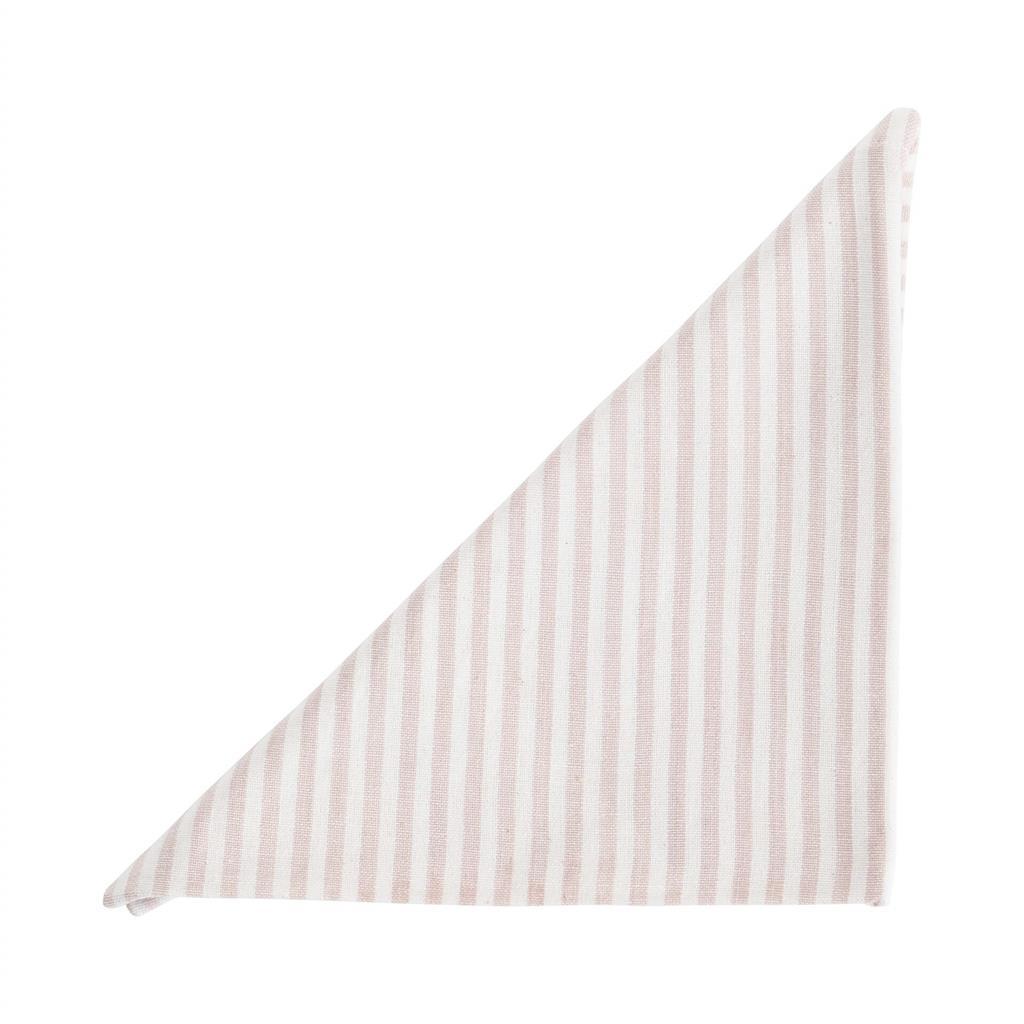 Serviet - Medium Fine Stripe - Soft Pink - 2 stk pr. kolli