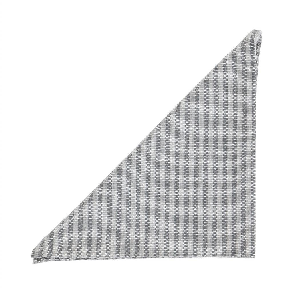 Serviet - Medium Fine Stripe - Dark Grey - 2 stk pr. kolli