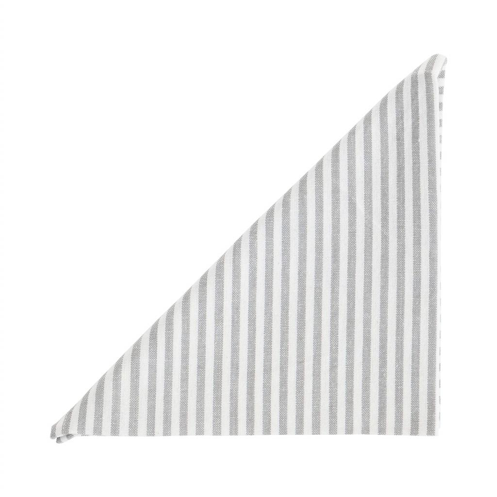 Serviet - Medium Fine Stripe - Silver Grey - 2 stk pr. kolli