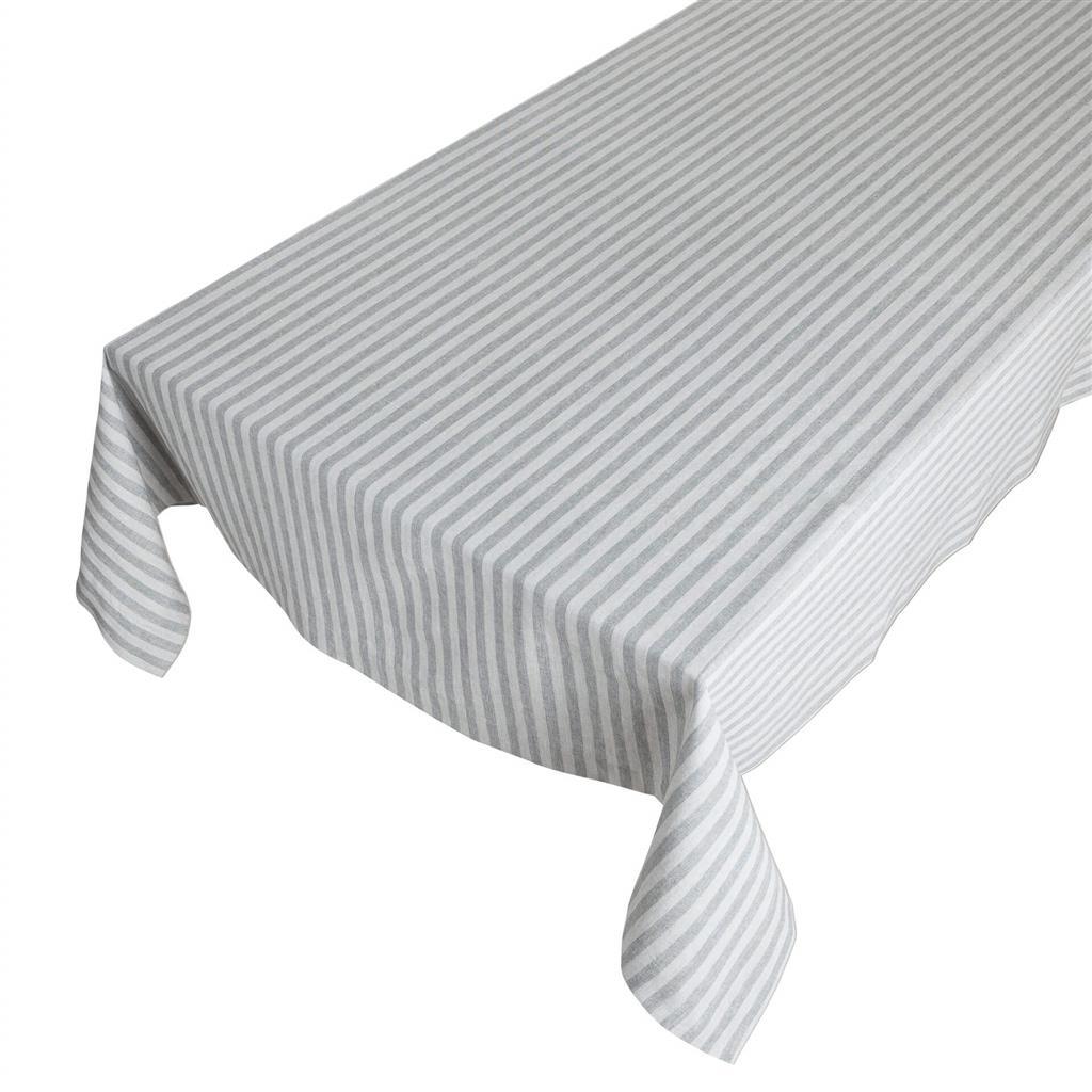 Bomuldsdug - Medium Fine Stripe - Dark Grey - 140 x 250 cm
