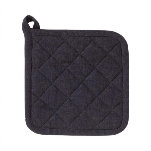 Grydelap - 100% Bomuld - 20x20cm - Black