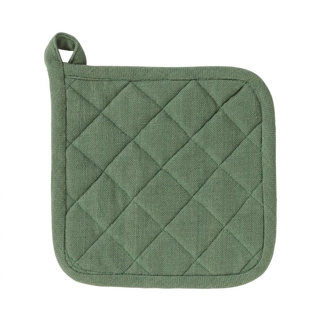 Grydelap - 100% Bomuld - 20x20cm - Green