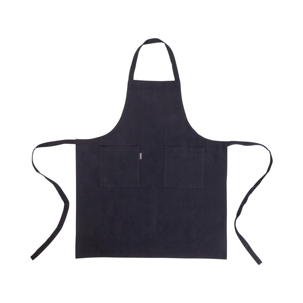 Linen forklæde - 75x90cm - Black