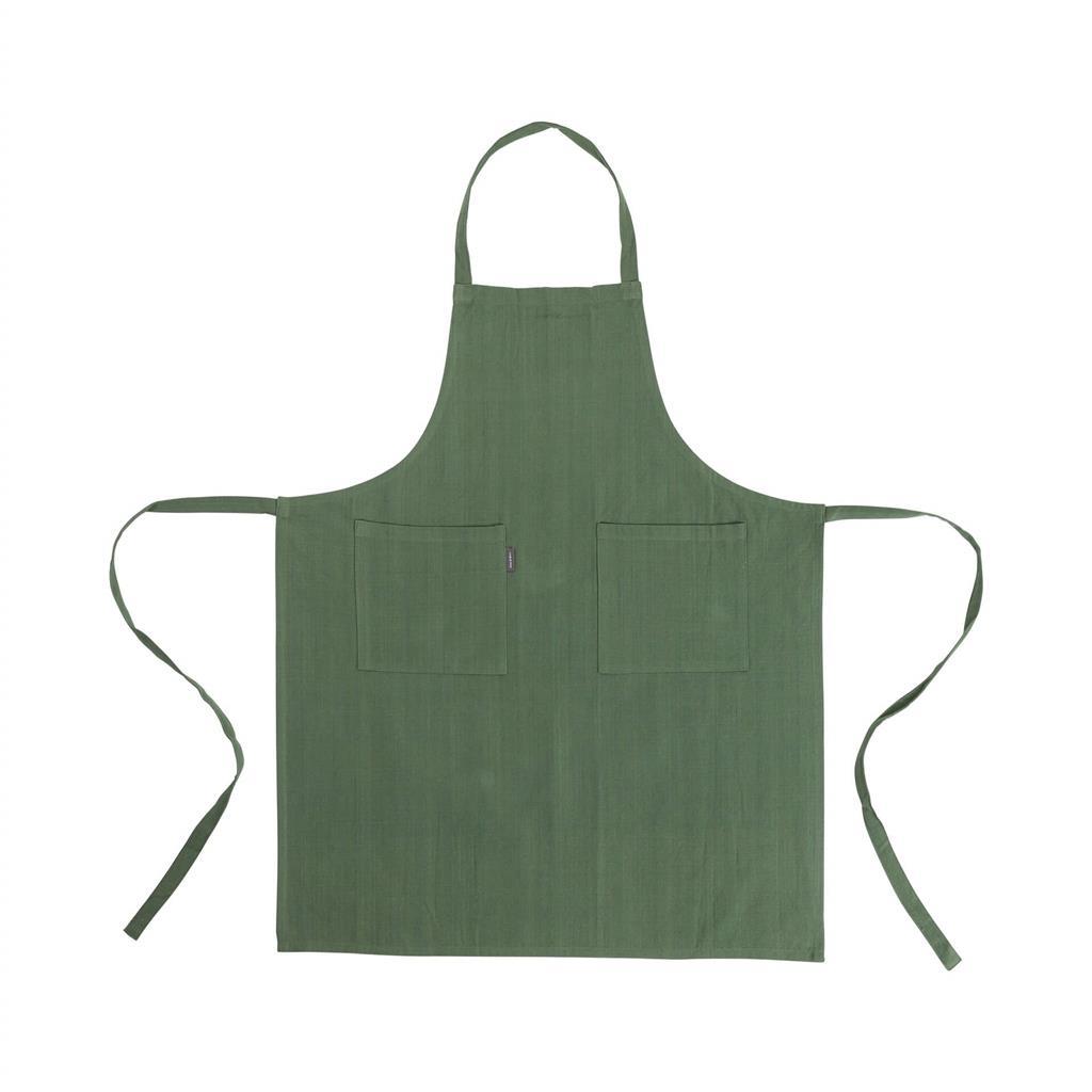 Linen forklæde - 75x90cm - Green