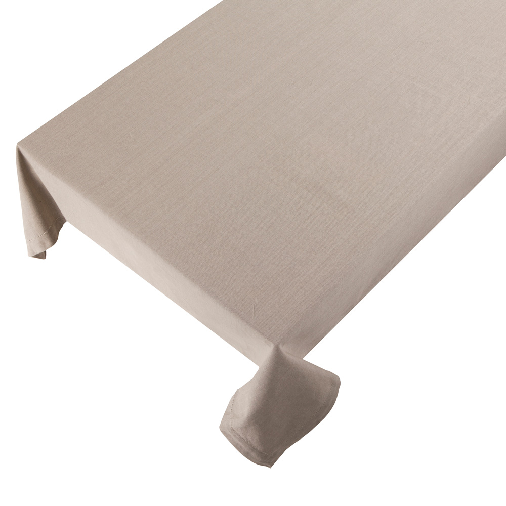 Bomuldsdug - Linen - Beige - 140 x 250 cm
