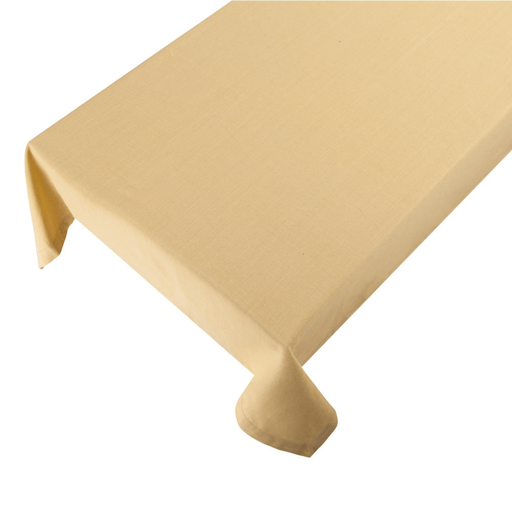 Bomuldsdug - Linen - Soft Yellow - 140 x 250 cm
