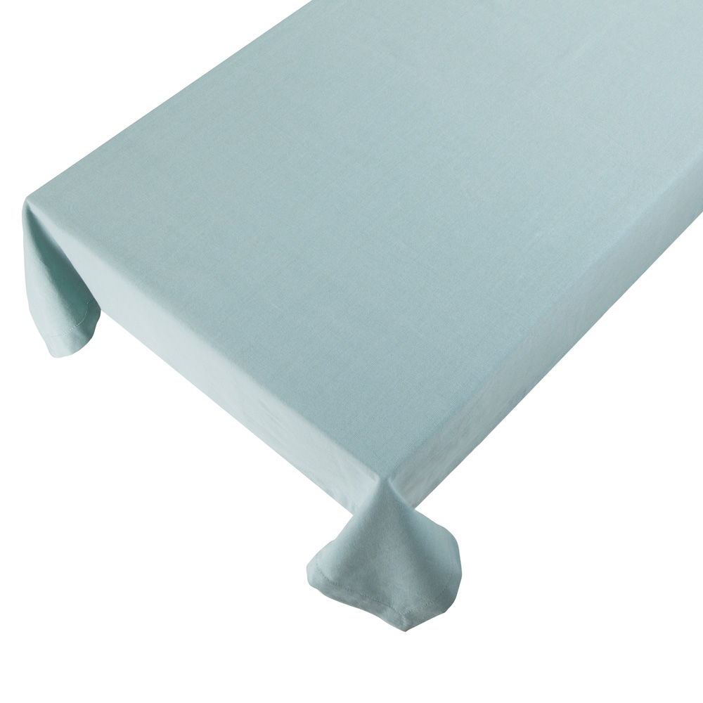 Bomuldsdug - Linen - Grey Blue - 140 x 250 cm