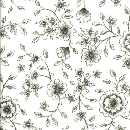 Akrylduge med blomster