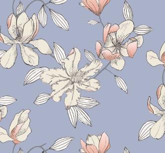 Bosquet satin sengetøj - Blå - 140 x 220