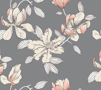 Bosquet satin sengetøj - Grå - 140 x 200