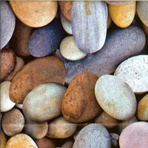 Voksdug med sten